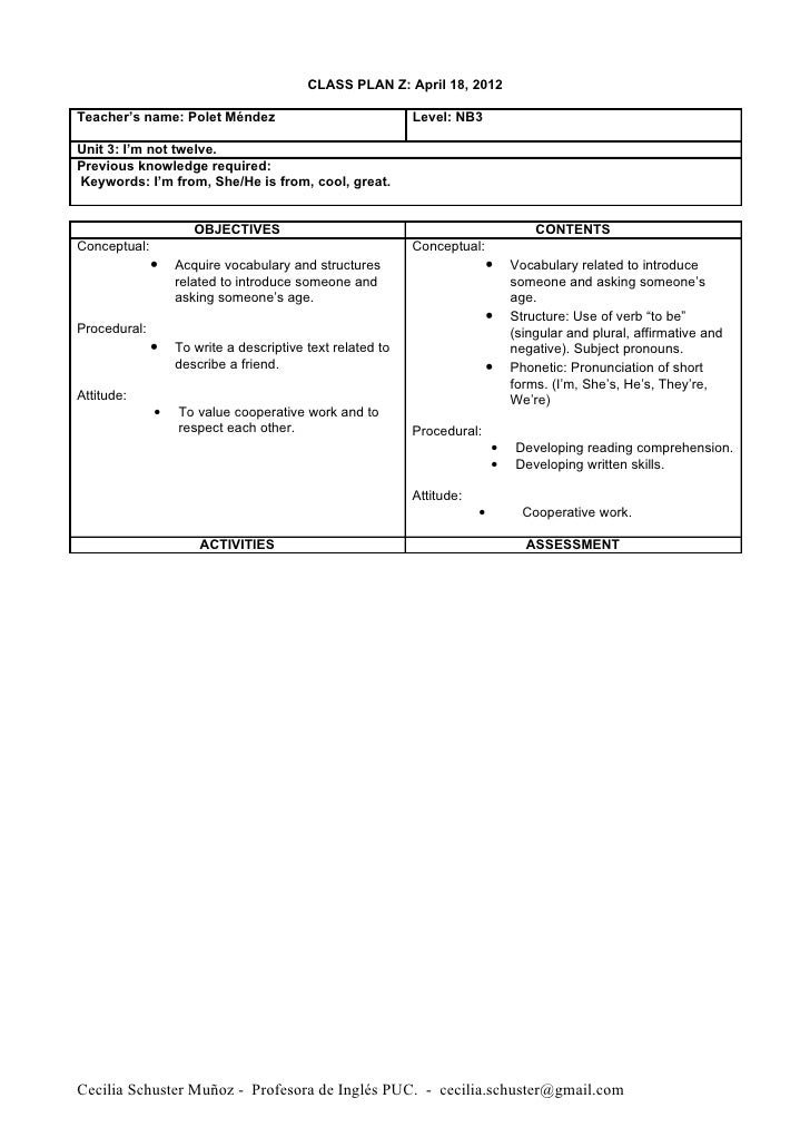 Class planning April 18