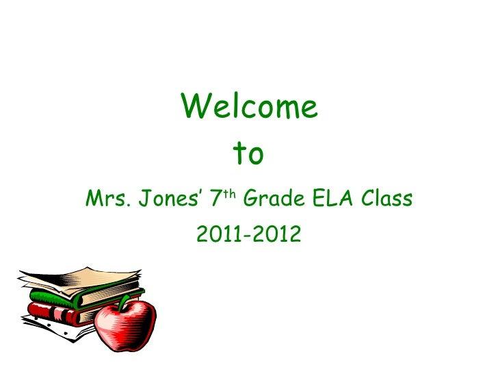 Classprocedures wcjh 7th grade 2011 2012