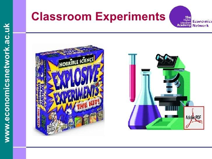 Classroom Experiments for Economics