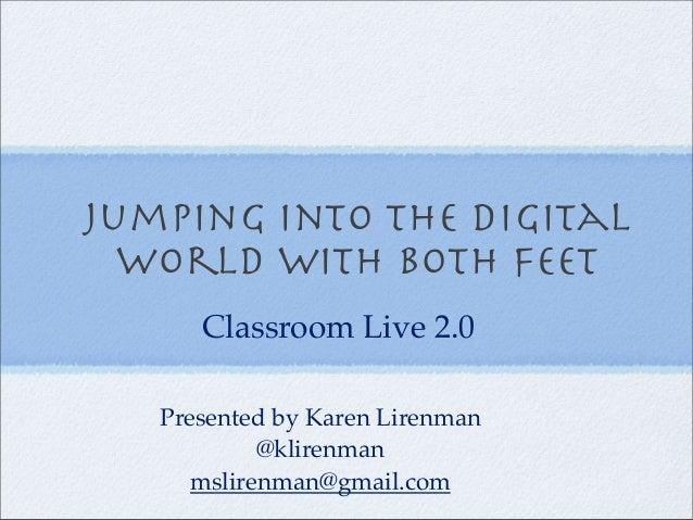 K. Lirenman on Classroom 2.0 Live Dec 2012