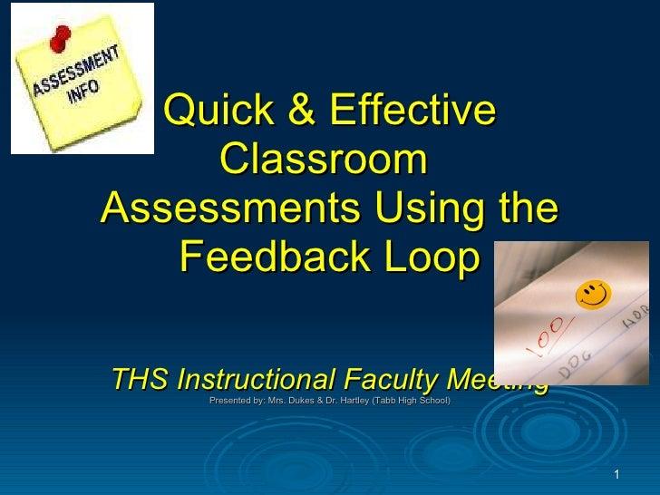 Classroom assessment techniques 091