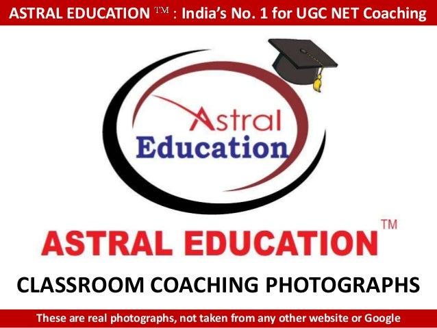 UGC NET Classroom coaching photographs