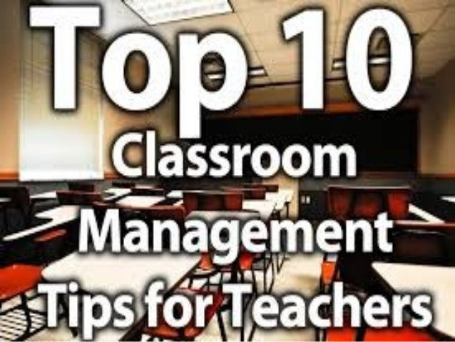 Classroom Control and Management Tips