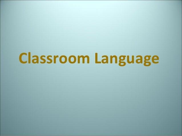 Classroom language 2013