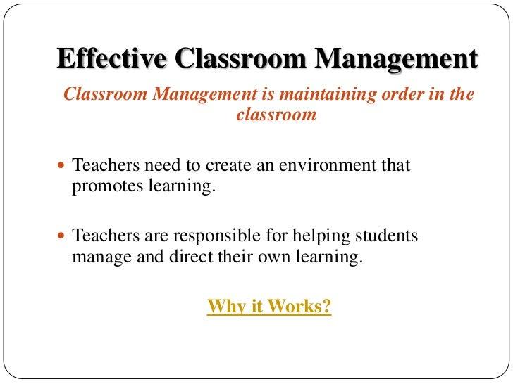 classroom management paper research