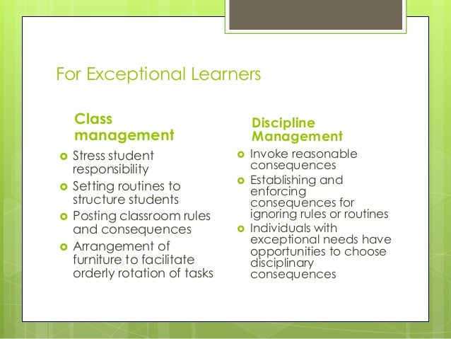 summary learners with exceptionalities