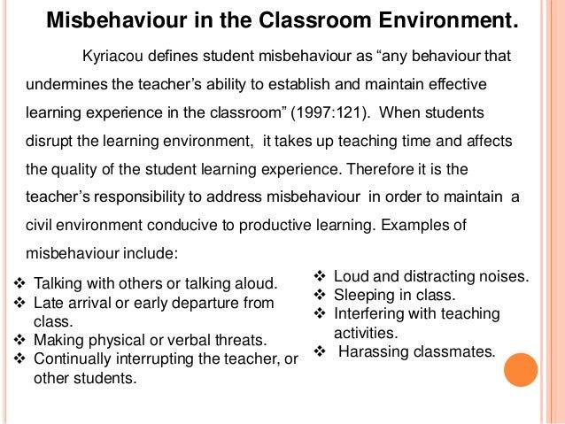 Classroom management term paper