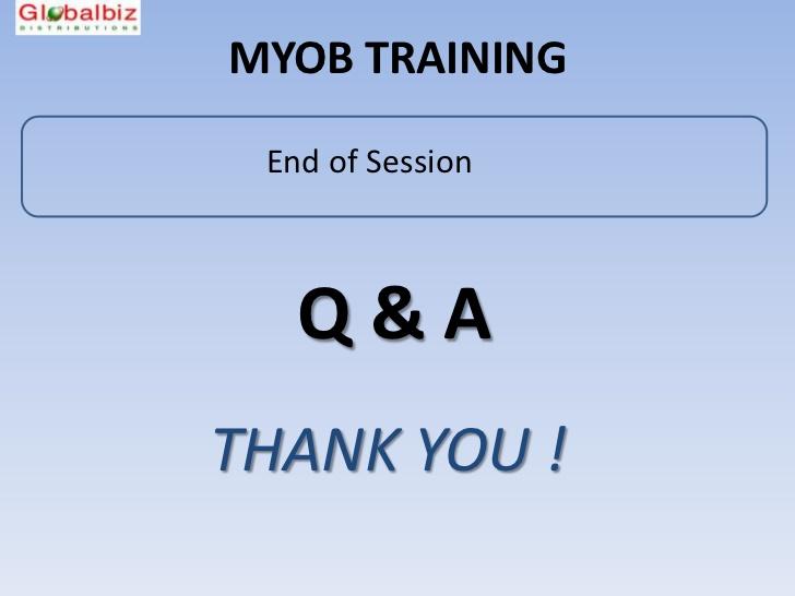 session report myob
