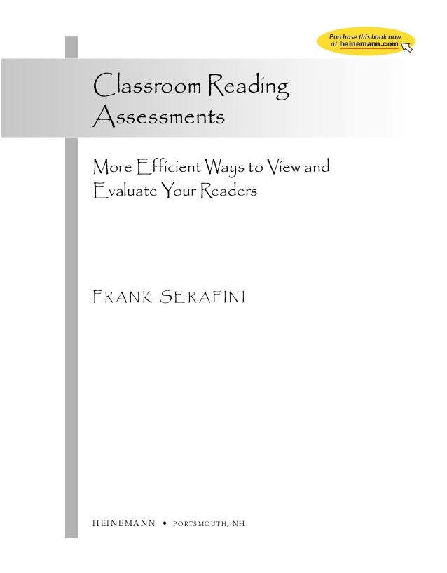 ch00_5533.qxd  1/5/10  7:47 AM  Page iii  Purchase this book now at heinemann.com  Classroom Reading Assessments More Effi...
