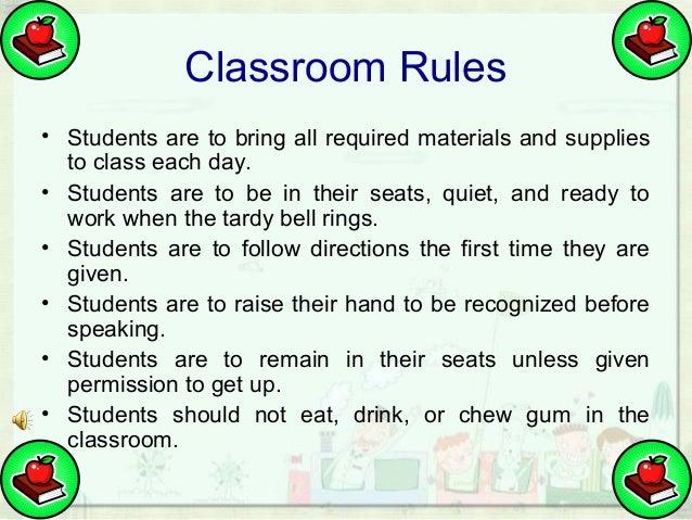 Classroom Design Should Follow Evidence ~ Classroom rules and procedures by ahmad jaenuri