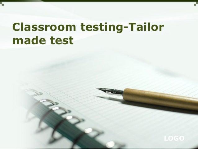 Classroom testing-Tailor made test  LOGO