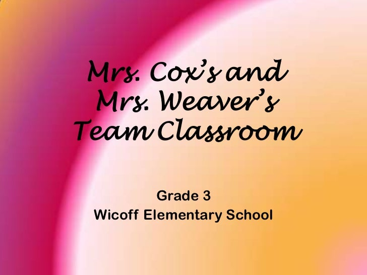 Mrs. Cox's and Mrs. Weaver's Team Classroom<br />Grade 3<br />Wicoff Elementary School<br />