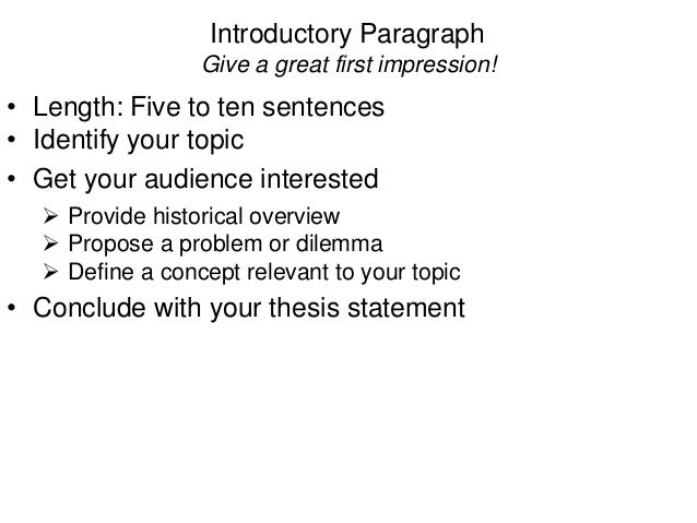 4 characteristics of an effective thesis statement