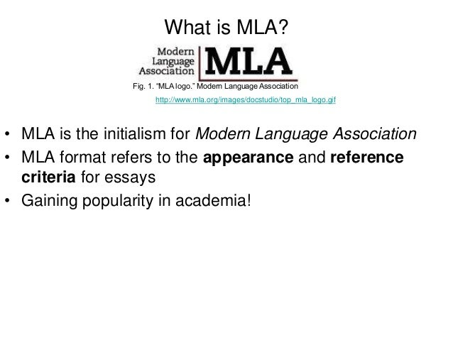 What is mla format?
