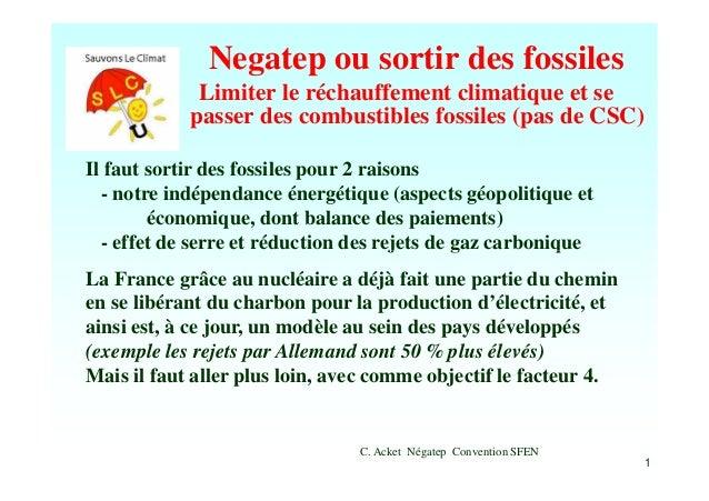 Negatep ou sortir des fossiles par Claude acket