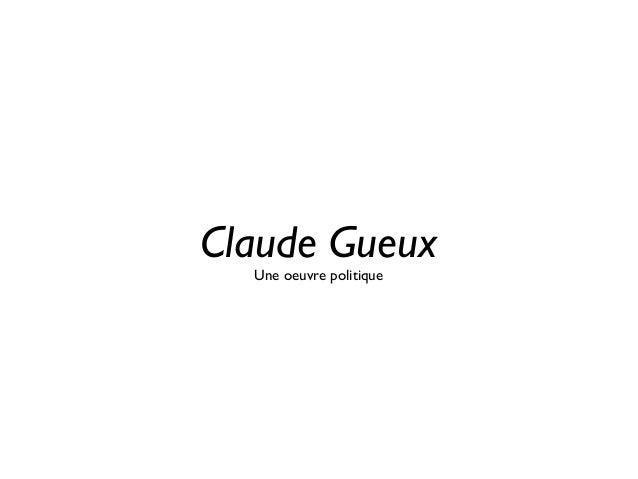 Claude Gueux Une oeuvre politique