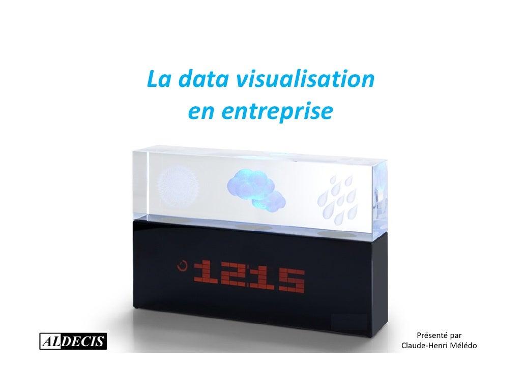 La data visualisation    en entreprise                            Présenté par                        Claude-Henri Mélédo