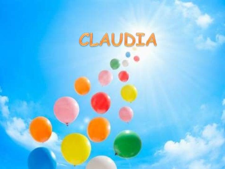 CLAUDIA<br />