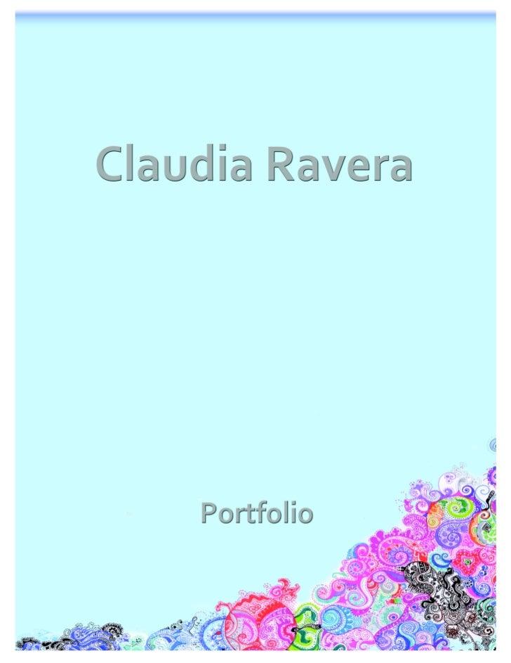 Claudia Ravera Portfolio