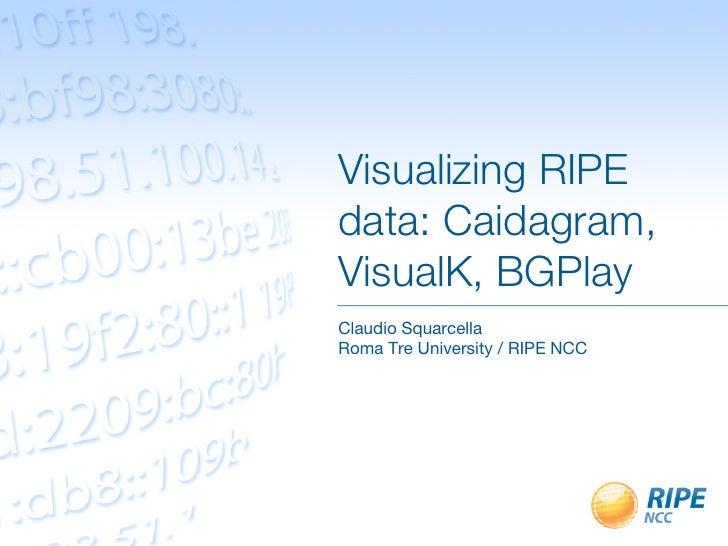 Visualizing RIPE data: Caidagram, VisualK, BGPlay