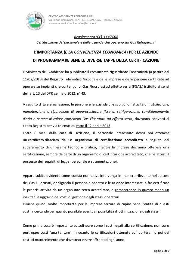 Claudio Bertini - L'importanza della certificazione del personale e delle aziende che operano sui gas refrigeranti