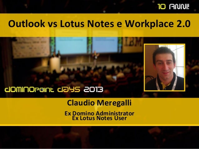 Outlook vs Notes, #dd13