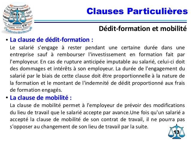 contrat de travail et clause de mobilite