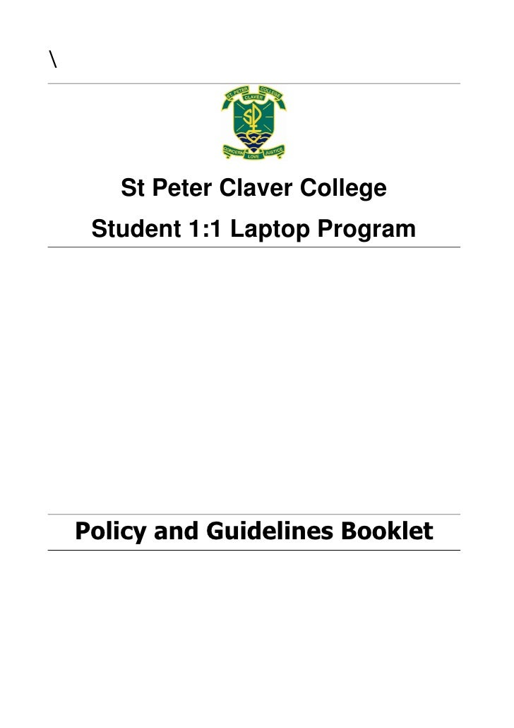 Claver laptop program policy