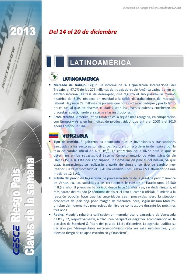 DireccióndeRiesgoPaísyGestióndeDeuda        Del14al20dediciembre          LATINOAMÉRICA  LATINOA...