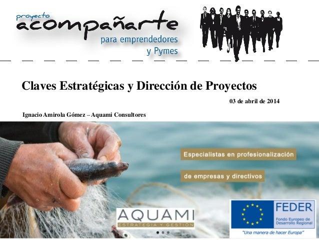 Claves Estratégicas y Dirección de Proyectos Ignacio Amirola Gómez – Aquami Consultores 03 de abril de 2014