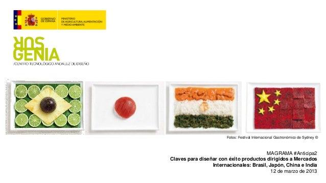 Surgenia: Claves para diseñar con éxito productos agroalimentarios en China, Japón, Brasil y Rusia