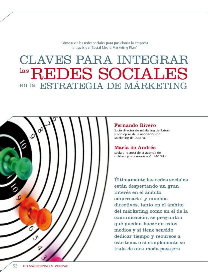 Artículo Claves para integrar las redes sociales en la estrategia de marketing