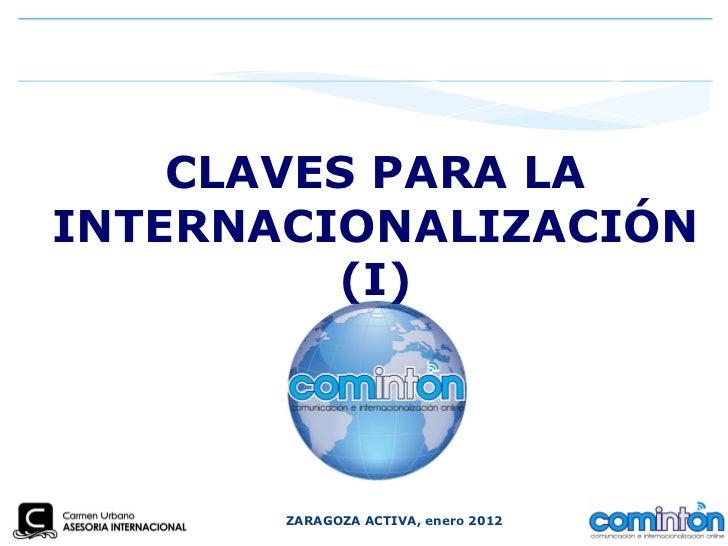 Claves para la internacionalizacion 2012