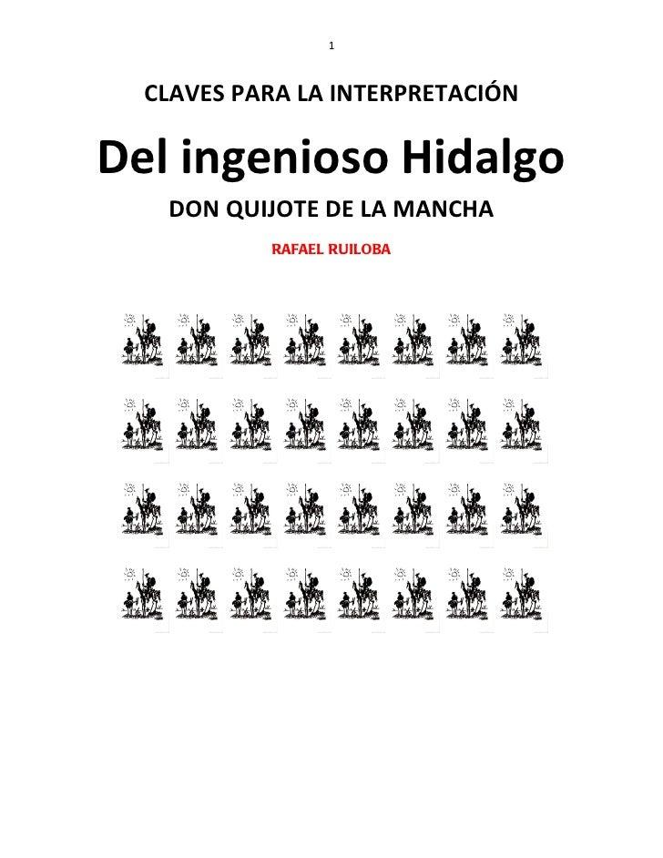 Claves para la Interpretación de Don Quijote de la Mancha (Rafael Ruiloba)