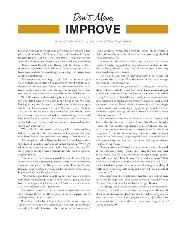 Don' t Move,                                            improve                                  Written by Danielle Dean ...