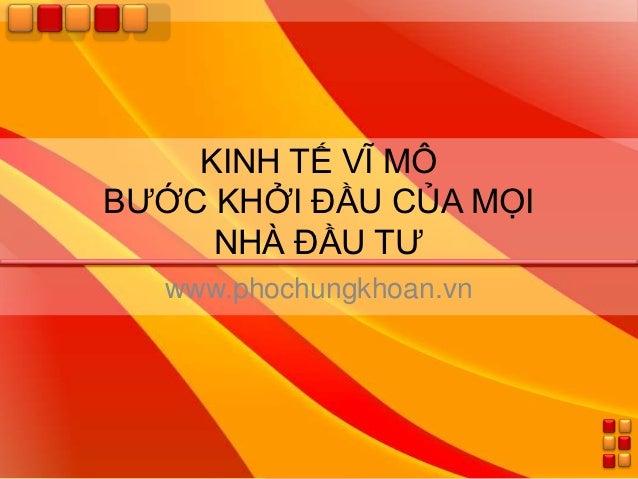 PhoChungKhoan.vn - Kinh tế vĩ mô