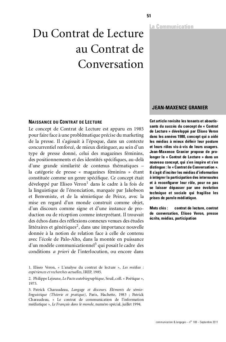 51                                                                              La Communication  Du Contrat de Lecture   ...