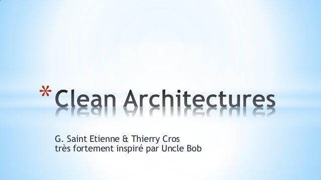 G. Saint Etienne & Thierry Crostrès fortement inspiré par Uncle Bob*