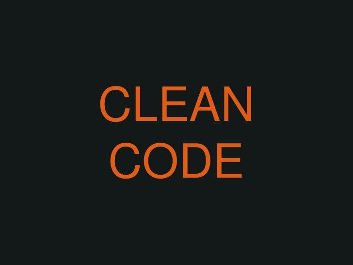 CLEAN CODE<br />
