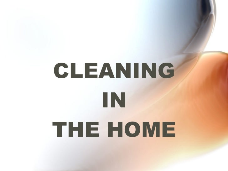 CLEANING IN THE HOME
