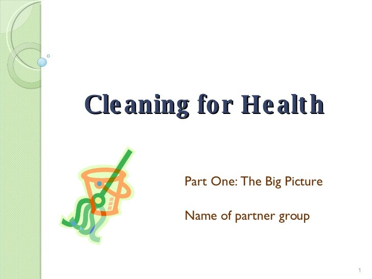 Cleaning for Health Part One: The Big Picture Name of partner group