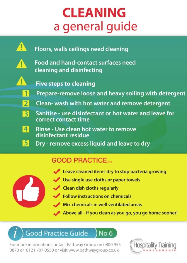 Cleaning: A General Guide, Hospitality Training Partnership