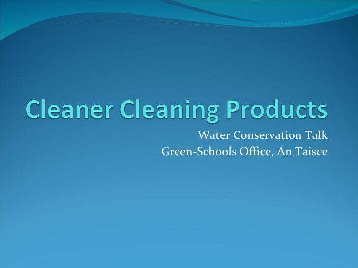 Cleaning products presentation
