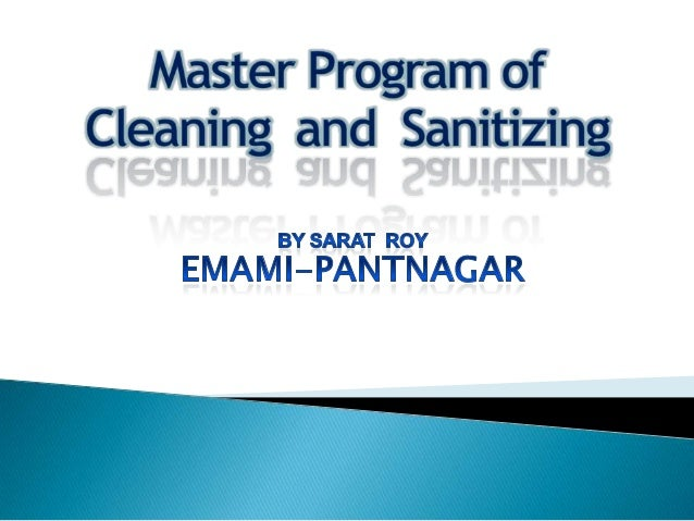 Cleaning & sanitization