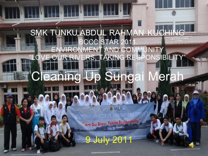 Cleaning up sungai merah