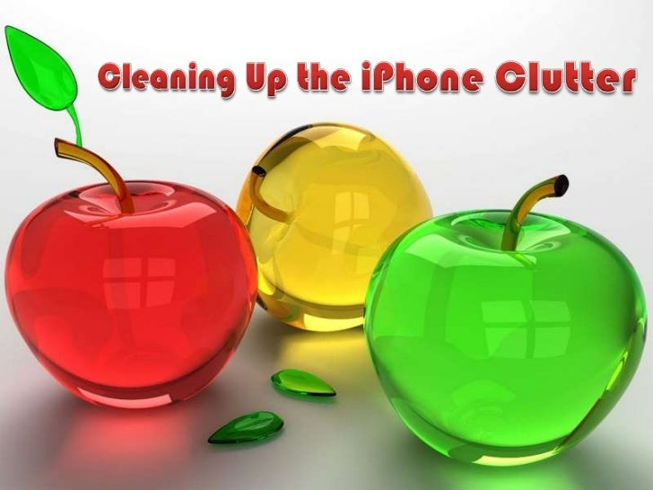 Cleaning up the iphone clutter