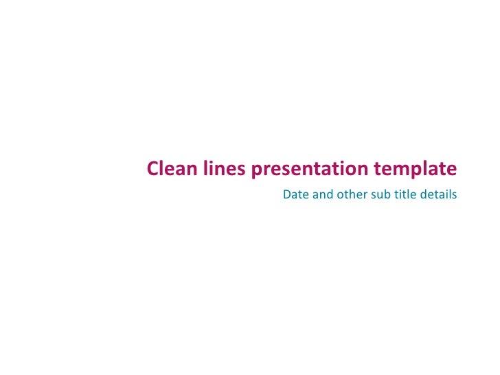 Dummy presentation template
