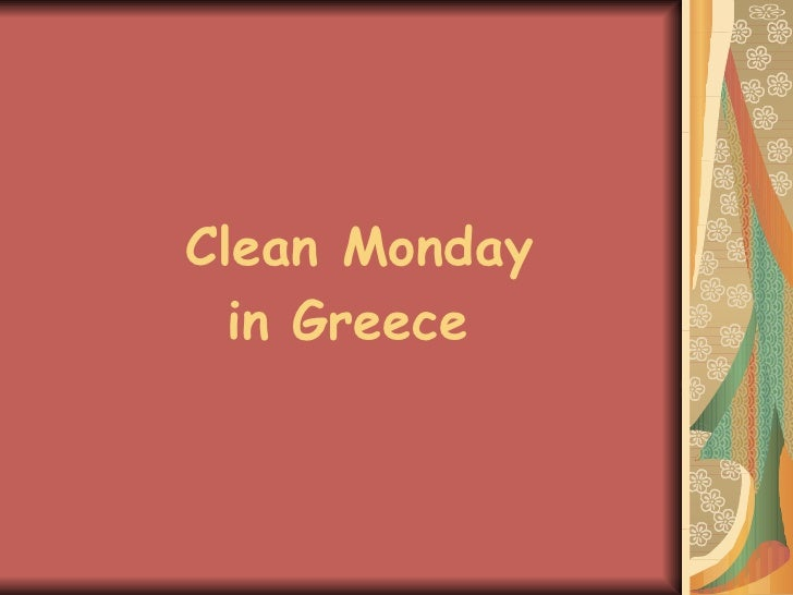 Clean Monday In Greece