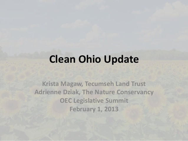 Clean Ohio Fund update