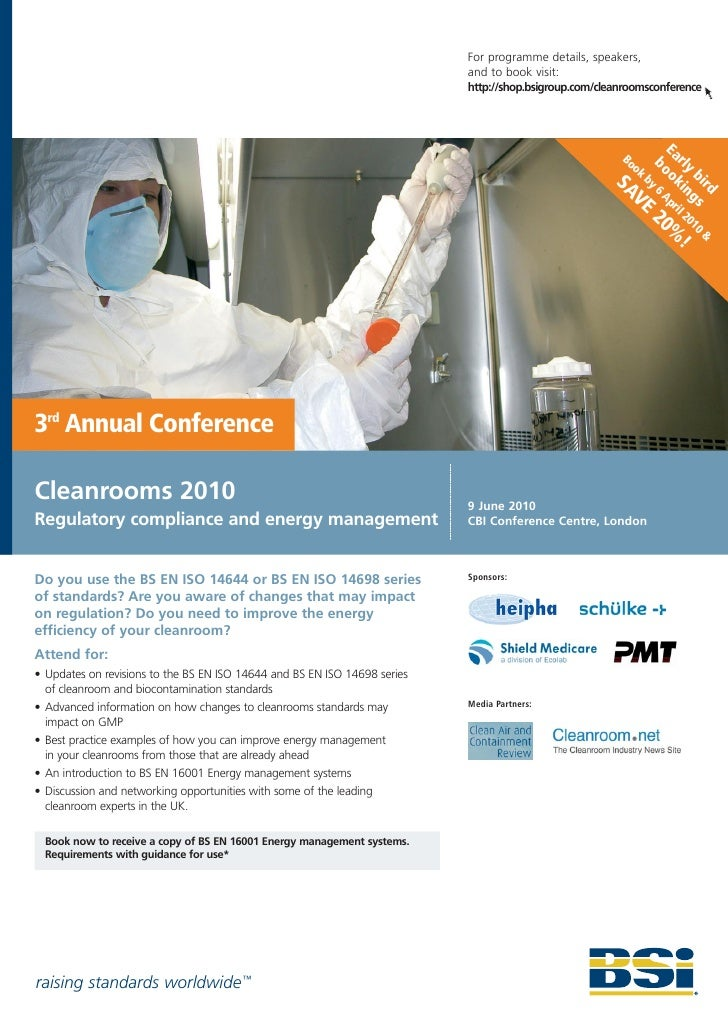 BSI Cleanrooms Conference 2010